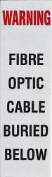 Fibre Warning Post Label